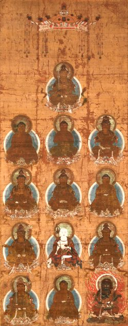十三仏画像(軸物 室町期)