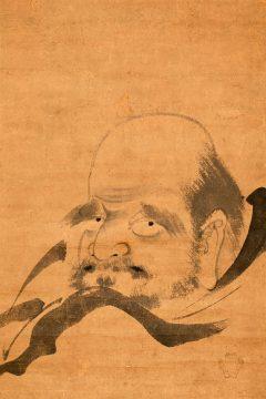 達磨(軸物)狩野元信 画