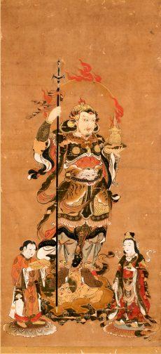 毘沙門天画像(軸物)