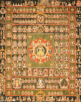 両界曼茶羅 胎蔵界(軸物一対)