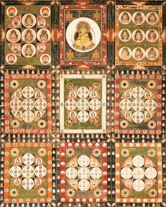 両界曼茶羅 金剛界(軸物一対)