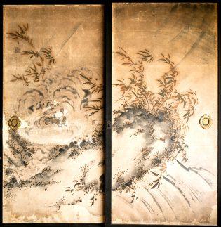 虎の図(襖絵 高麗鶴堂 画)
