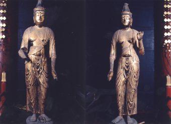 観音・勢至菩薩両立像(市指定文化財)